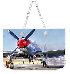 Dreadnaught Engine Start Sunday Gold Unlimited Reno Air Races Weekender Tote Bag