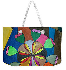 Weekender Tote Bag featuring the painting Dream 302 by S S-ray