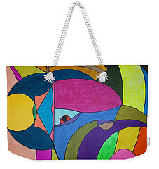 Weekender Tote Bag featuring the painting Dream 303 by S S-ray