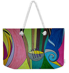 Weekender Tote Bag featuring the painting Dream 305 by S S-ray