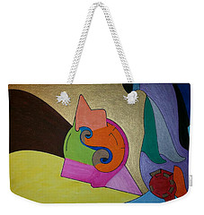 Weekender Tote Bag featuring the painting Dream 310 by S S-ray