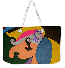 Weekender Tote Bag featuring the painting Dream 319 by S S-ray