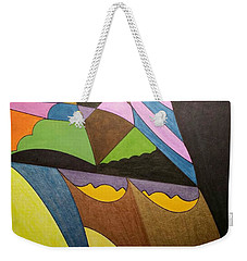 Weekender Tote Bag featuring the painting Dream 321 by S S-ray