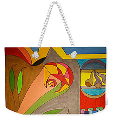 Weekender Tote Bag featuring the painting Dream 326 by S S-ray