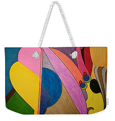 Weekender Tote Bag featuring the painting Dream 328 by S S-ray