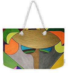 Weekender Tote Bag featuring the painting Dream 331 by S S-ray