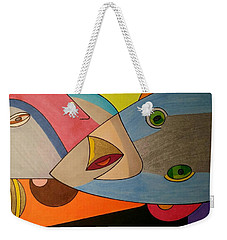 Weekender Tote Bag featuring the painting Dream 334 by S S-ray