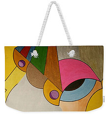Weekender Tote Bag featuring the painting Dream 335 by S S-ray