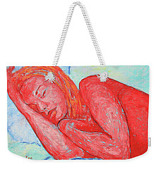 Weekender Tote Bag featuring the painting Dream Big   by Xueling Zou