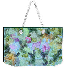 Weekender Tote Bag featuring the mixed media Dream Bigger by Trish Tritz