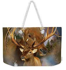 Dream Catcher - Spirit Of The Elk Weekender Tote Bag