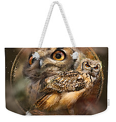 Dream Catcher - Spirit Of The Owl Weekender Tote Bag