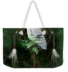 Dream Catcher White Owl Weekender Tote Bag