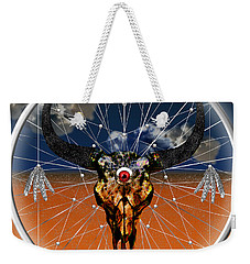 Weekender Tote Bag featuring the digital art Dream Guardian by Iowan Stone-Flowers