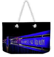 Dream-hope-change-equality Martin Lurther Kin Bridge - Fort Wayne Indiana Weekender Tote Bag