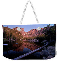Weekender Tote Bag featuring the photograph Dream Lake by Gary Lengyel