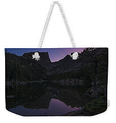 Weekender Tote Bag featuring the photograph Dream Lake Reflections by Gary Lengyel