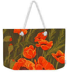 Weekender Tote Bag featuring the painting Dream Of Poppies by Anastasiya Malakhova