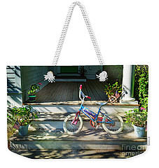 Dream On Bicycle Weekender Tote Bag by Craig J Satterlee