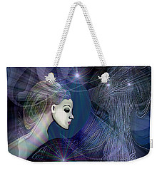 Weekender Tote Bag featuring the digital art 1101 - Dream Voyage - 2017 by Irmgard Schoendorf Welch