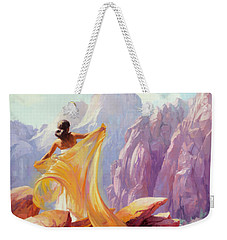 Weekender Tote Bag featuring the painting Dreamcatcher by Steve Henderson