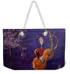 Weekender Tote Bag featuring the painting Dreamers 13-001 by Mario Perron