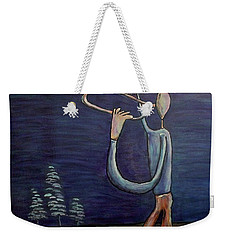 Weekender Tote Bag featuring the painting Dreamers 13-002 by Mario Perron