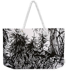 Weekender Tote Bag featuring the drawing Dreaming Alaska.part One by Anna  Duyunova