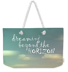 Weekender Tote Bag featuring the photograph Dreaming by Ann Powell