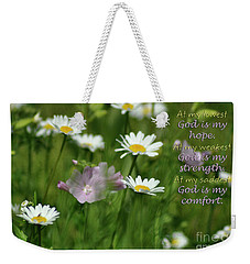 Weekender Tote Bag featuring the photograph God Is by Diane E Berry