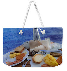 Weekender Tote Bag featuring the photograph Dreaming Of Breakfast At Sea by DigiArt Diaries by Vicky B Fuller
