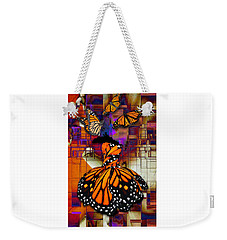 Weekender Tote Bag featuring the mixed media Dreaming Of Flying High by Marvin Blaine