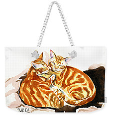 Dreaming Of Ginger - Orange Tabby Cat Painting Weekender Tote Bag