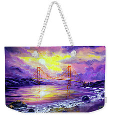 Dreaming Of San Francisco Weekender Tote Bag by Laura Iverson