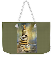 Weekender Tote Bag featuring the mixed media Dreaming Stones by Carol Cavalaris