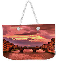 Dreamlike Sunset From Ponte Vecchio Weekender Tote Bag