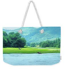 Animals In Li River Weekender Tote Bag