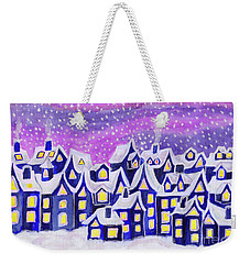 Dreamstown Blue, Painting Weekender Tote Bag