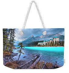Weekender Tote Bag featuring the photograph Dreamy Chateau Lake Louise by John Poon