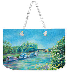 Weekender Tote Bag featuring the painting Dreamy Days by Elizabeth Lock