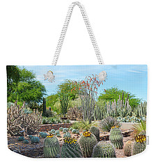 Dreamy Desert Cactus Weekender Tote Bag by Aimee L Maher Photography and Art Visit ALMGallerydotcom
