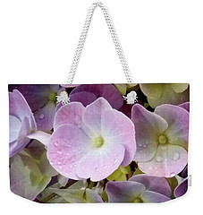 Weekender Tote Bag featuring the photograph Dreamy Hydrangea by Mimulux patricia no No