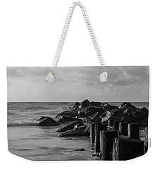 Dreamy Jettie Grayscale Weekender Tote Bag by Jennifer White