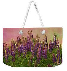 Dreamy Lupin Weekender Tote Bag by Deborah Benoit