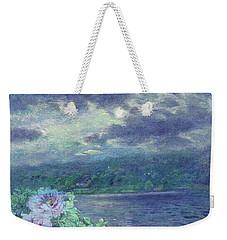 Dreamy Moon Over Peony Weekender Tote Bag