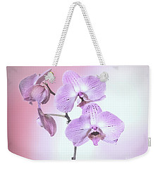 Dreamy Pink Orchid Weekender Tote Bag by Linda Phelps