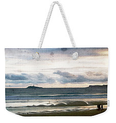 Weekender Tote Bag featuring the digital art Dreamy Seascape by Andrea Barbieri