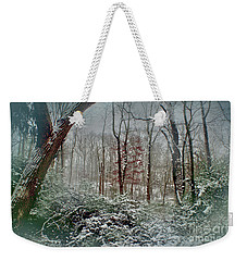 Weekender Tote Bag featuring the photograph Dreamy Snow by Sandy Moulder