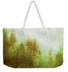 Weekender Tote Bag featuring the digital art Dreamy Summer Forest by Klara Acel