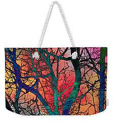 Weekender Tote Bag featuring the digital art Dreamy Sunset by Klara Acel